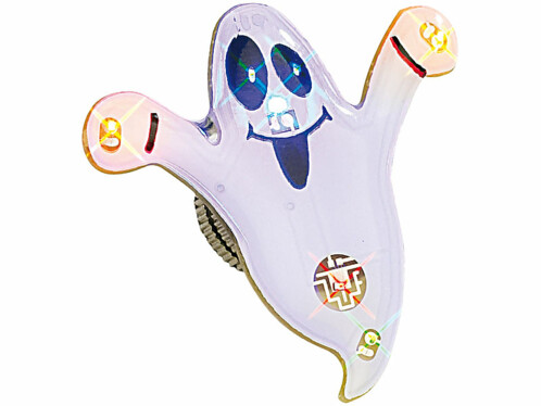 Pin's aimanté à LED ''Fantôme blanc''