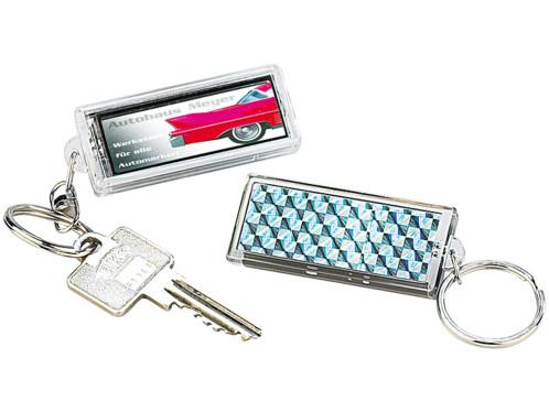 Porte-clés personnalisables solaires avec écrans LCD