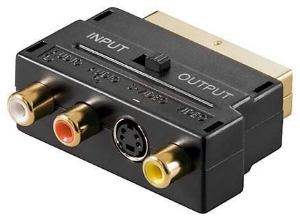 Adaptateur Péritel, Cinch, S-Vidéo avec connecteurs dorés