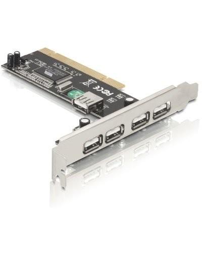 Carte PCI Delock 4 ports USB 2.0