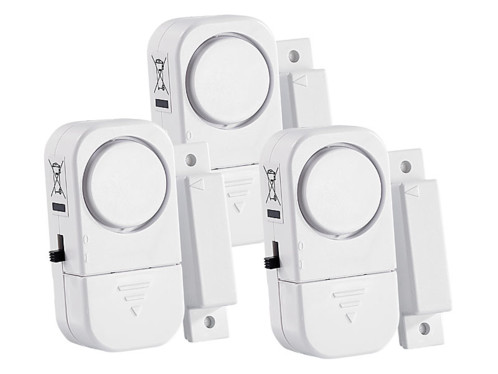 Mini-alarmes pour portes et fenêtres, lot 3