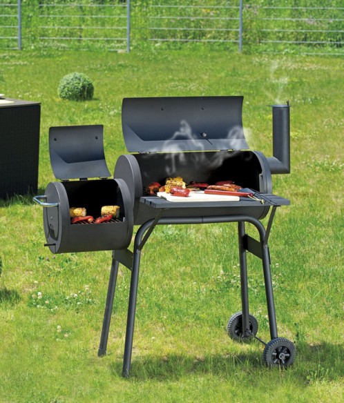 barbecue charbon avec gril et fumoir 6 grilles et. Black Bedroom Furniture Sets. Home Design Ideas
