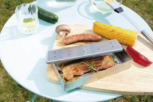 bo te fumoir poisson et viande pour barbecue gaz et charbon. Black Bedroom Furniture Sets. Home Design Ideas