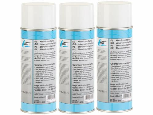 3 sprays d'étanchéité - Blanc - 400 ml