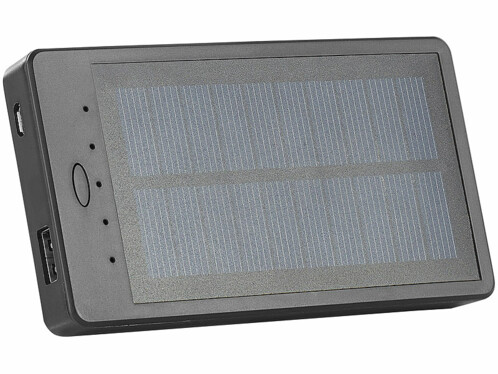Batterie de secours solaire 2000 mAh ''PB-20.s'' avec support ventouses