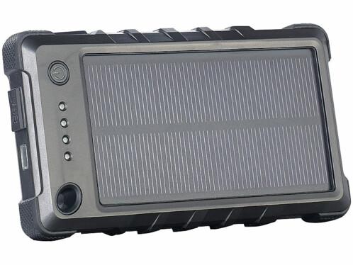 Batterie de secours solaire 8000 mAh ''PB-80.s'' ultra-résistante