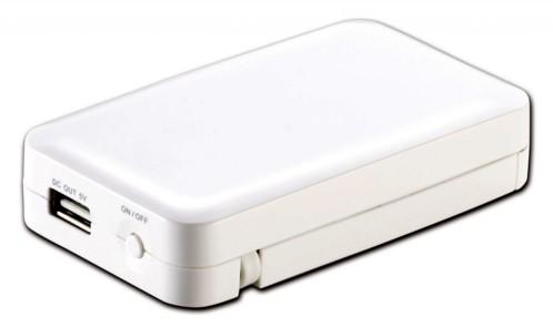 Batterie de secours USB avec alimentation par piles ou accus