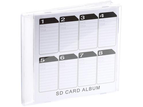 boite de rangement pour cartes sd format boite de cd crystal avec fiche
