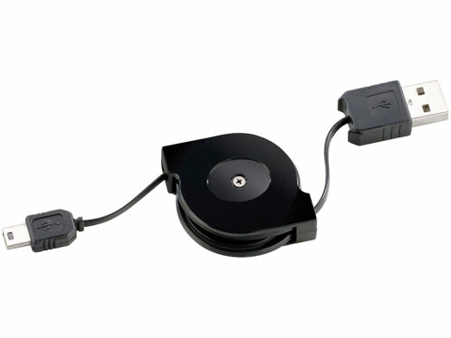Câble rétractable USB vers Mini-USB - 0,80m