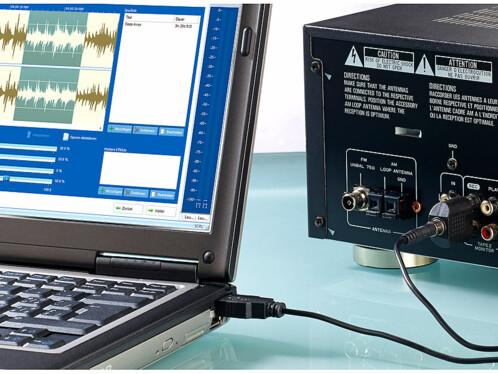 Numériseur audio & enregistreur MP3 ''AD-330 USB''
