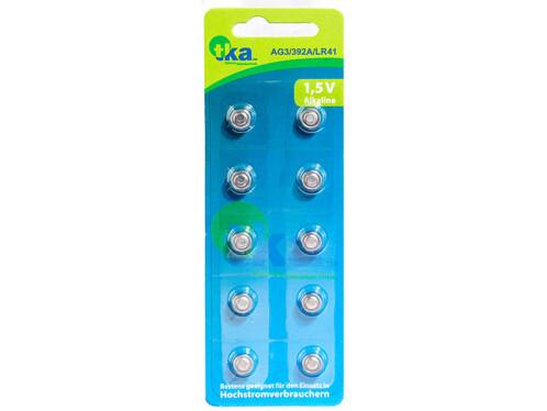 Piles bouton alcalines LR41 1,5 V - Lot de 10