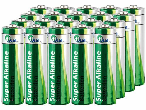 20 piles super alcalines AA