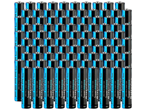 Piles Super Alcalines type AAA - Lot de 100