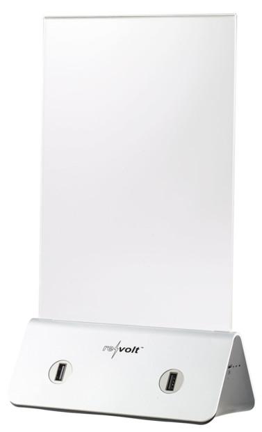 porte affiche A6 avec sorties USB pour chargement Revolt