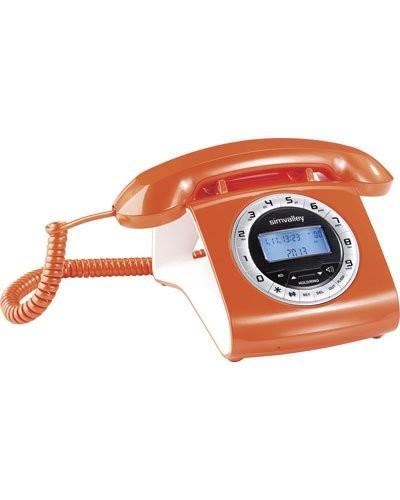 Téléphone rétro filaire avec écran LCD