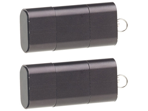 2 lecteurs de carte Micro SD pour ports USB A et C