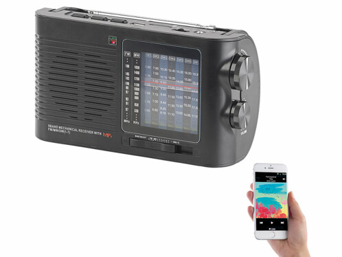 radio analogique vintage avec batterie interne et fonction bluetooth pour camping car atelier tar-750 auvisio
