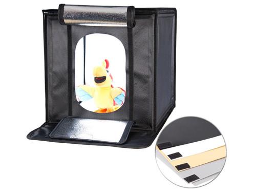 Studio photo professionnel 40 x 40 cm à éclairage LED 40 W / 2400 lm