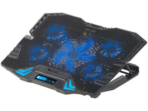 tablette de ventilation pour pc gaming notebook 15,6 pouces avec eclairage led bleu callstel