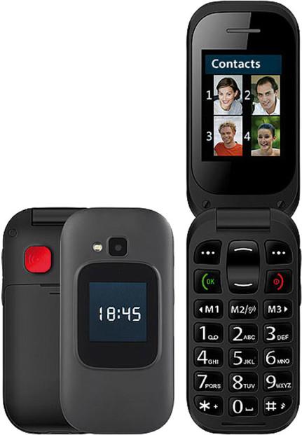 Téléphone Portable à Clapet 2 écrans Avec Appel D Urgence Xl 965 Simvalley Mobile