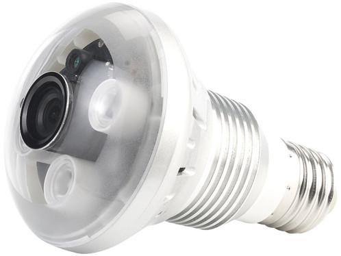 Ampoule à LED 3 W E27 avec caméra furtive OctaCam intégrée.