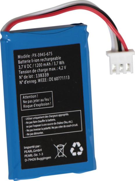 Batterie de rechange 1200 mAh pour SimValley TTF-401