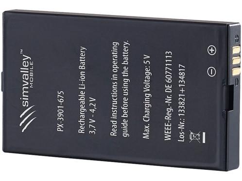 batterie de remplacement pour téléphone outdoor simvalley XT-820