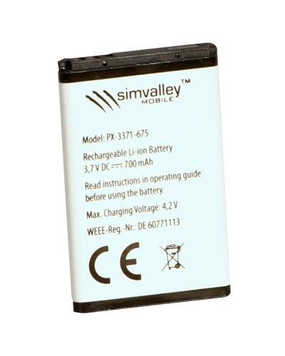 Batterie supplémentaire 700 mAh pour téléphone ''Easy 5 et 5+''