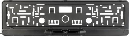 Caméra de recul sur support de plaque d'immatriculation avec application