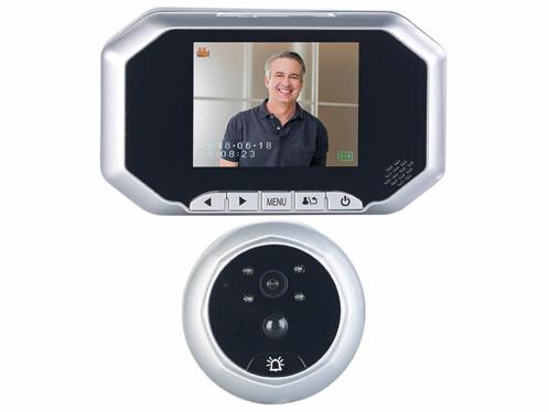 Caméra judas numérique avec enregistrement vidéo, capteur PIR et vision nocturne VTK-200