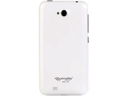 Face arrière blanche pour smartphone Android SPX-12