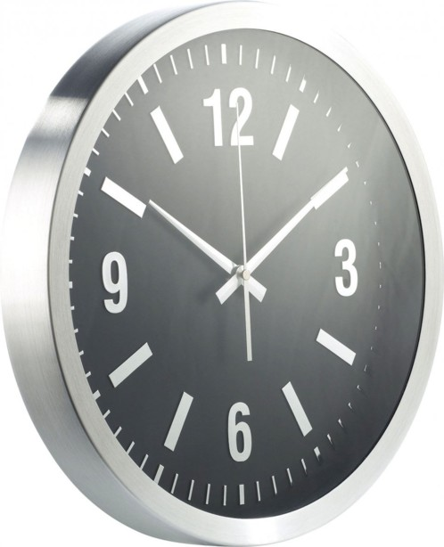 Horloge analogique en aluminium avec cam ra hd furtive for Horloge numerique murale design