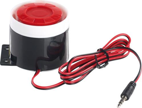 sirene d'alarme 110db filaire par jack pour systeme antivol xmd 5400 visor tech