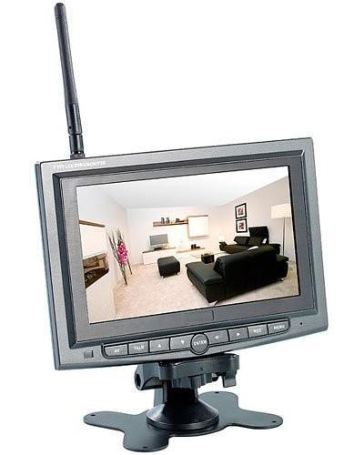 syst me de surveillance avec 1 cam ra sans fil infrarouge. Black Bedroom Furniture Sets. Home Design Ideas