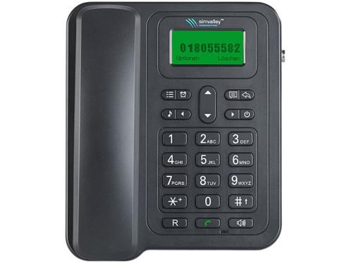 Telephone De Bureau Gsm Debloque Ttf 401 Avec Batterie Et Fonction Sms Simvalley Communications