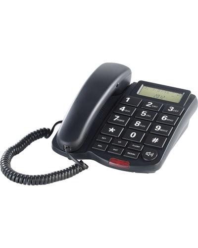 t l phone fixe grosses touches noir avec cran lcd et hp 39 xlf 40 39. Black Bedroom Furniture Sets. Home Design Ideas