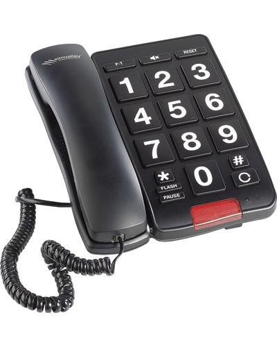 t l phone fixe grosses touches pas cher couleur noir. Black Bedroom Furniture Sets. Home Design Ideas