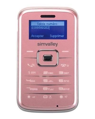 Téléphone miniature ''Pico Inox RX-180'' rose