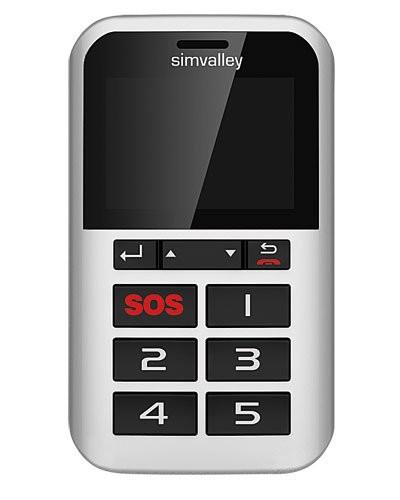 Téléphone portable à 5 touches RX-902 et SOS - avec GPS