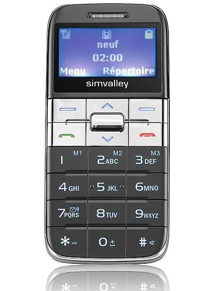 Téléphone portable miniature ''Easy 5'' argenté