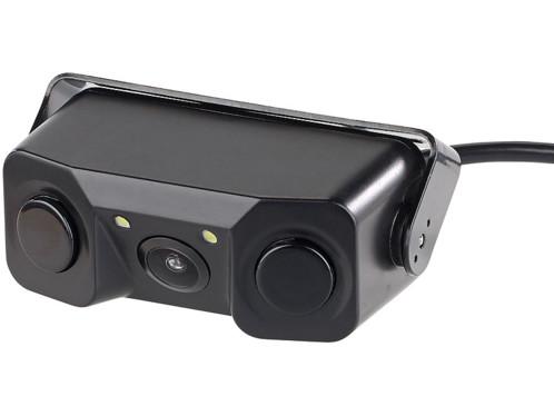 Caméra de recul additive grand angle 120° avec detection ultrasons et vision nocturneled lescars