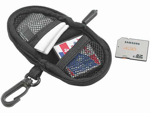 Housse de protection pour cartes mémoire avec chiffon
