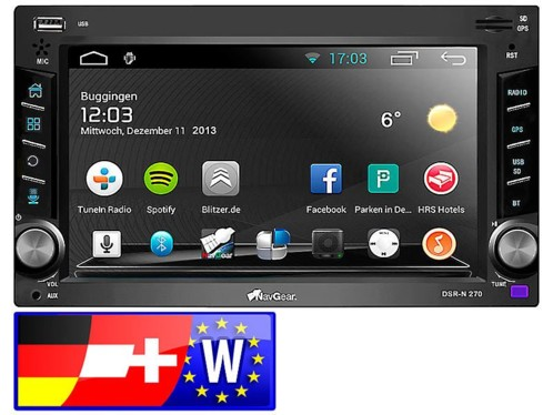 Autoradio Android 2 DIN ''DSR-N 270'' avec cartes GPS Europe