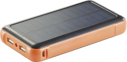 Batterie de secours solaire 20.000 mAh avec 2 ports USB