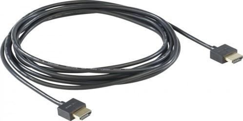 Câble HDMI Full HD 3D ultra plat avec contacts dorés - 3 m