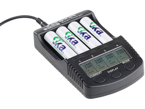 chargeur d'accu aa aaa avec écran niveau de charge testeur charge rapide TKA