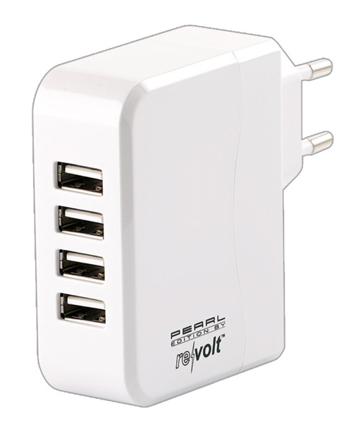 Chargeur secteur avec 4 ports USB et technologie Smart Power - 24 W
