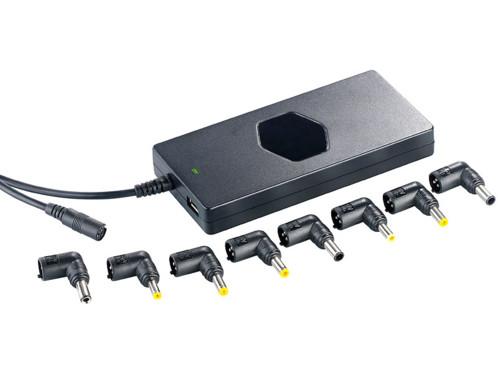 Chargeur universel 90 W pour ordinateur portable, avec port USB (reconditionné)