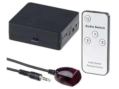 répartiteur audio hub pour toslink fibre optique avec télécommande commutateur chaine hifi home cinema