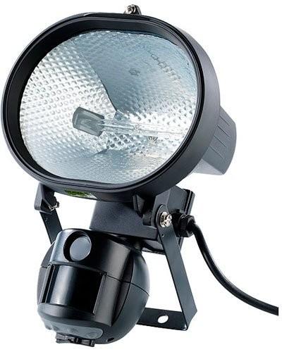 spot halogène extérieur avec caméra de surveillance et détecteur